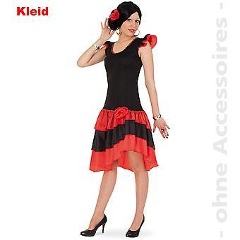 Spansk Lady drakt volang kjole Spania Flamenco damer drakt