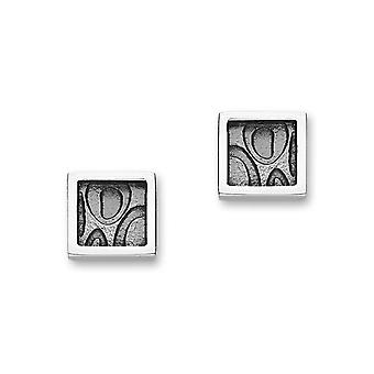 Sterling Silver Traditional Contemporary Modern Indulge Design Pair of Earrings - E1802