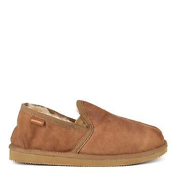 Shepherd of Sweden Mens' Bosse Antique Cognac Suede Slipper