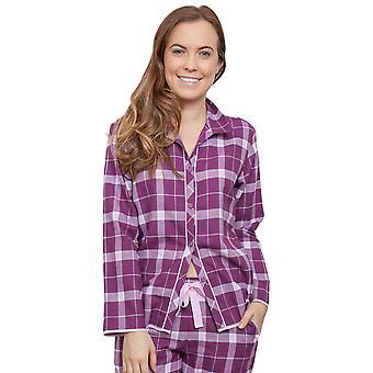 Cyberjammies 3831 kvinnors Fiona Magenta lila kontrollera pyjamas pyjamas Top