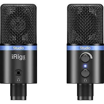 IK Multimedia IRIG MIC STUDIO sort USB studio mikrofon med inkl. klip, stå, stål kabinet