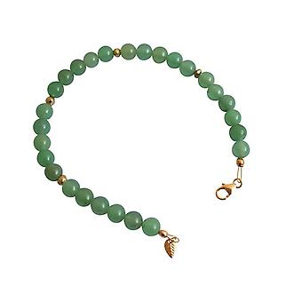Green Aventurine gemstone bracelet green Aventurine gemstone bracelet gold plated