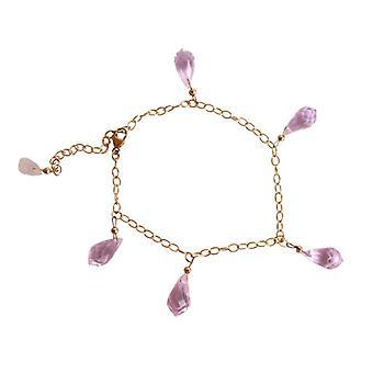 Morganite gemstone armbånd lyserød gemstone dråber armbånd forgyldt