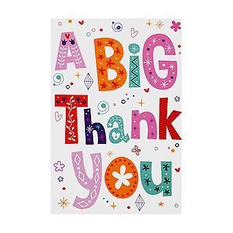 Simon Elvin Open A Big Thank You Individually Wrapped Cards (Pack Of 12)