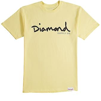 Diamond Supply Co Og Script T-shirt Yellow