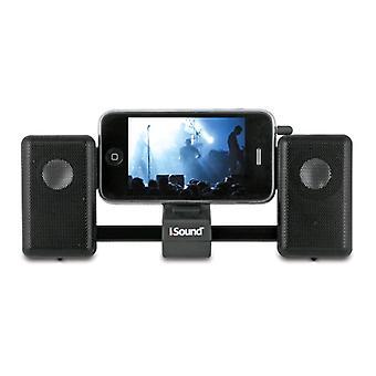 iSound - iMan Universal corredera sistema de altavoces portátil - negro
