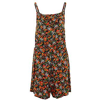 Ladies ermeløse Strappy Cami Frill Floral Print kvinners sommer Shorts Playsuit
