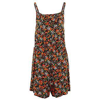 Verão Shorts Playsuit senhoras sem mangas Cami rendado babado Floral impressão feminina