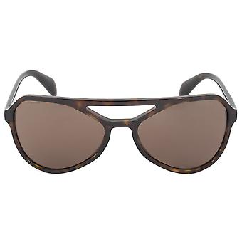 Prada Sunglasses PR22RS 2AU8C1 58 | Dark Havana Frame | Brown Lens