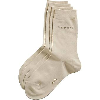 Esprit основные Easy 2 Pack середины теленка носки - крем