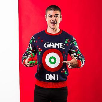 Christmas Shop Mens 3D spel på jul Jumper
