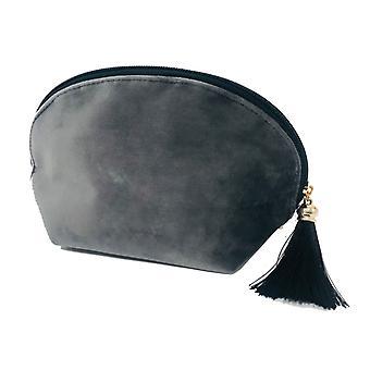 Victoria ' s Diseño bolsa de aseo terciopelo gris 21cm