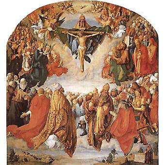 De aanbidding van de drie-eenheid, Albrecht Durer, 50x50cm