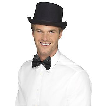כובע עליון, סאטן מראה, שחור
