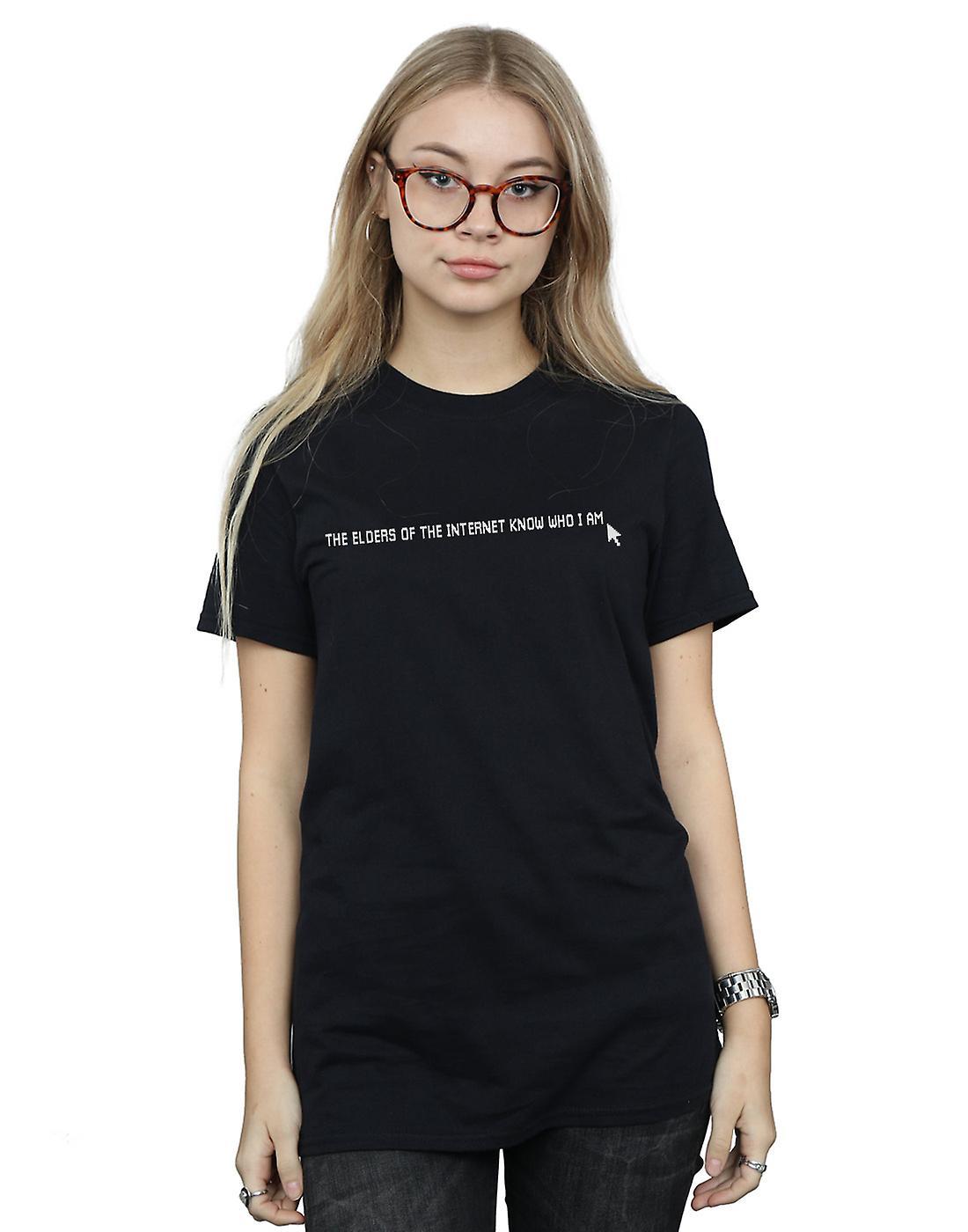 The IT Crowd Women's The Elders Know Boyfriend Fit T-Shirt