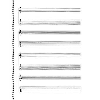 Passantino musik papper, nr 159: Gitarr manuskript papper