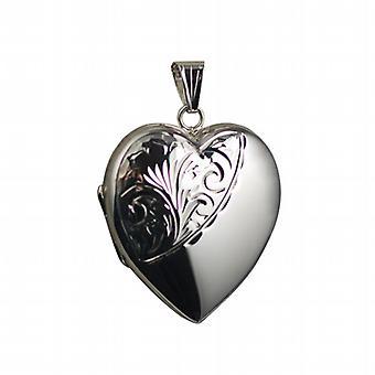 תליון כסף מעוצב בצורת לב 30x28mm למחצה