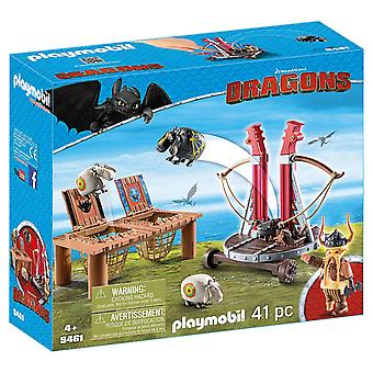 Playmobil DreamWorks Dragons 9461 Gobber The Belch with Sheep Sling