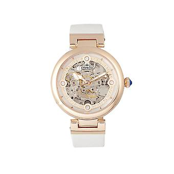Empress Adelaide Automatic Skeleton Leather-Band Watch - White