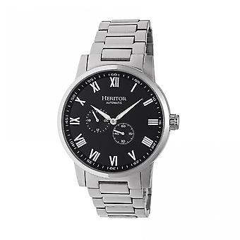 Heritor Automatic Romulus Bracelet Watch - Silver/Black