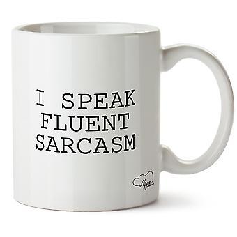 Hippowarehouse parlo fluente sarcasmo 283,5 grammi Mug tazza, Céramique, Blanc, unica taglia (10oz)