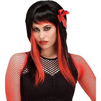 Wig For Fairy Black/Red