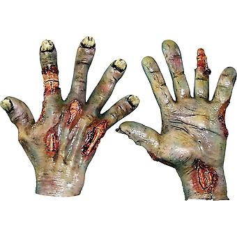 Zombie Rotted Latex Hands For Adults