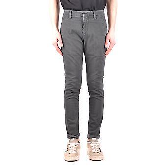 Dondup Ezbc051068 Men's Grey Cotton Pants