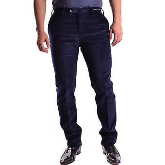 Pt01 Ezbc084006 Men's Blue Velvet Pants