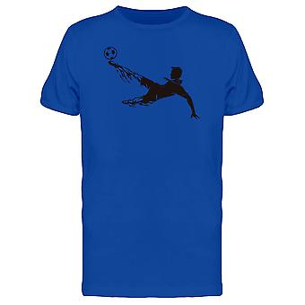 Soccer Kick Flaming Trail Tee Men's -Image by Shutterstock