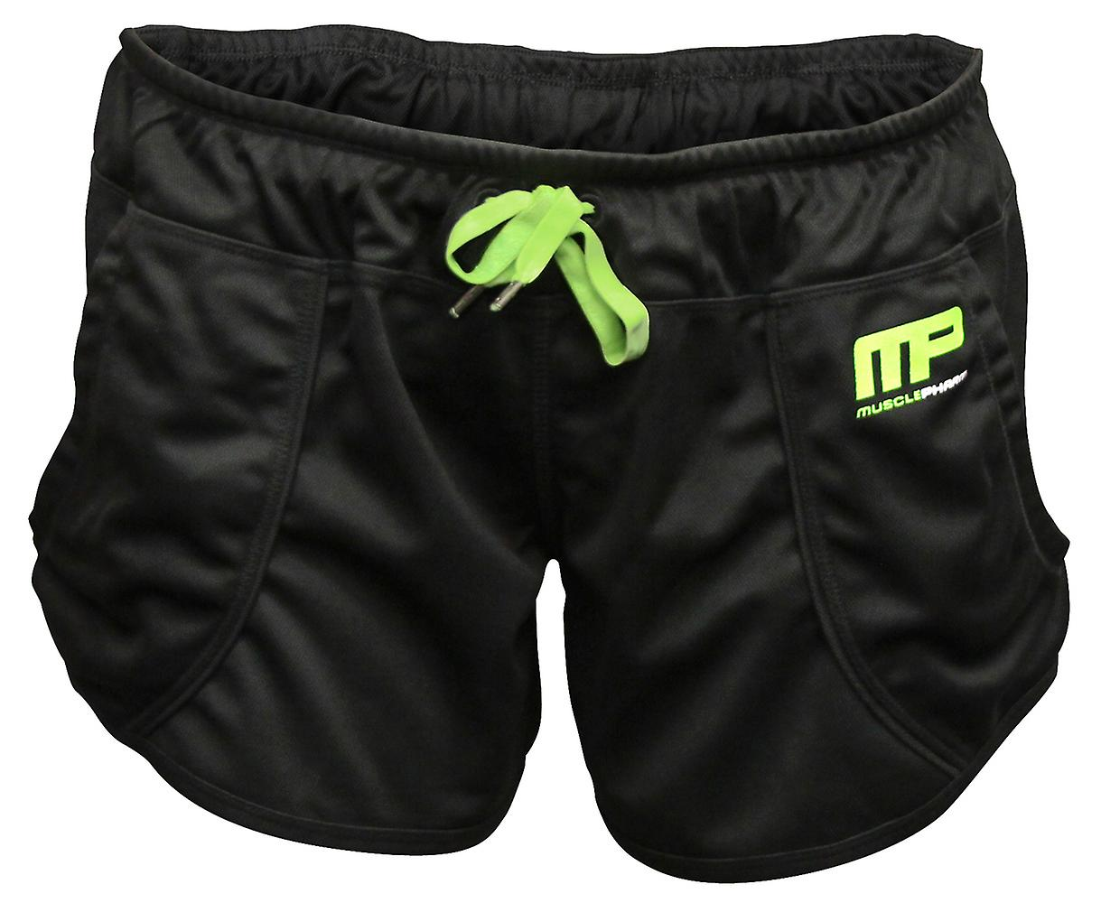 MusclePharm MP Womens Loose Fit Shorts Shorts - Black/Green