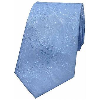 David Van Hagen luksus Paisley silke slips - himmelblå