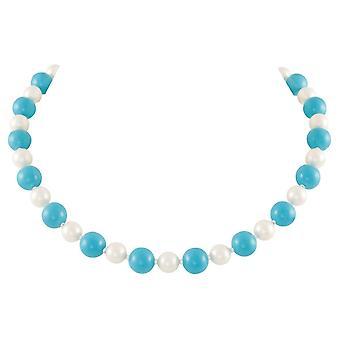 Ewige Sammlung Duett Türkis und Shell Perlen Halskette