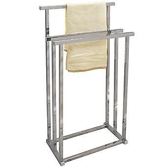 Pizo - Metal 3 Rung badeværelse håndklæde jernbane / tørrestativ - sølv