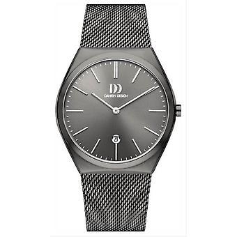 Deens design Tidlos Tasinge groot horloge-grijs