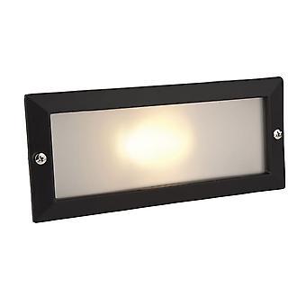 Firstlight-1 ljus utomhus tegel ljus utomhus-utan Louvren svart, opal glas IP54-1120BK