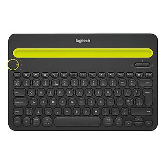 Logitech K480 multi Device teclado Bluetooth para PC, Smartphone e Tablet (QWERTY)-preto