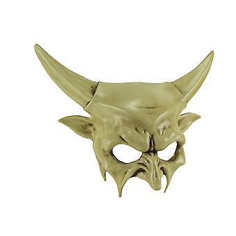 Off-White Dark Demon Horned Devil Adult Halloween Costume Mask