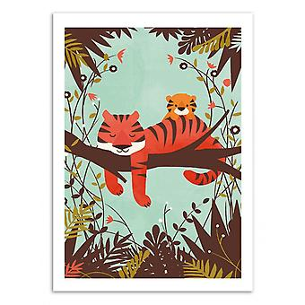 Art-Poster - Sovande Tiger - Jay Fleck