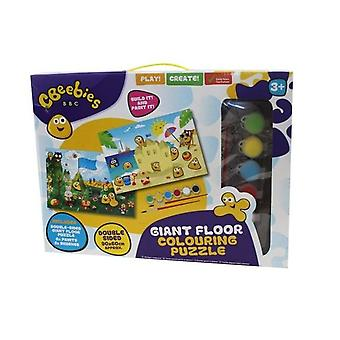 Cbeebies Giant Floor Colouring Puzzle 90x60cm