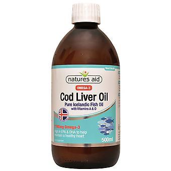 Nature's Aid Cod Liver Oil Liquid (with Vitamin A & D) 500ml (13930)