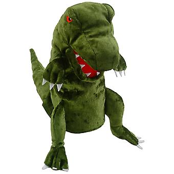 Marioneta de mano de fiesta manualidades dinosaurio (verde)