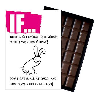 Easter Gift A Funny Rude Boxed Chocolate Bar For Girlfriend Wife or Women IF109