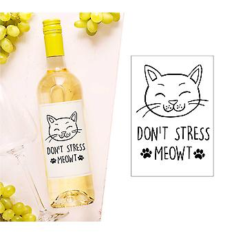 Don't Stress Meowt Weinflasche Label