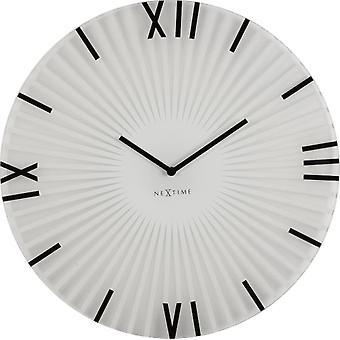 Nextime Horloge murale  43x3,5 cm bâtons en verre blanc (Décoration , Horloges)