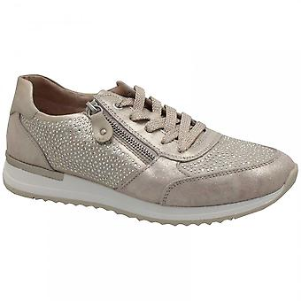 Remonte Gold Diamonte Detail Lace Up Trainer