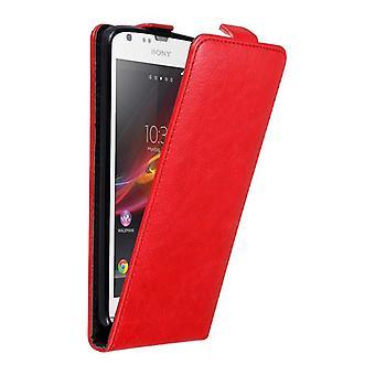 Cadorabo Hülle für Sony Xperia SP Case Cover - Handyhülle im Flip Design mit Magnetverschluss - Case Cover Schutzhülle Etui Tasche Book Klapp Style