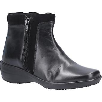 Fleet et Foster Womens Mona Zip Up Leather Ankle Boots
