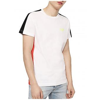 Diesel T-Harus Colour Block T-Shirt-Weiß