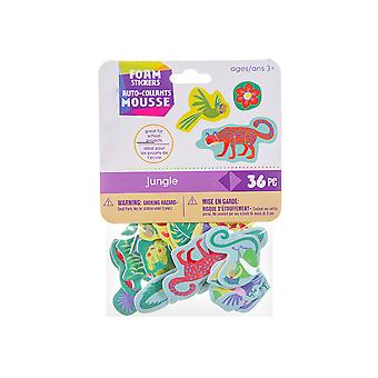 36 Jungle Animal Foam Stickers for Kids Crafts